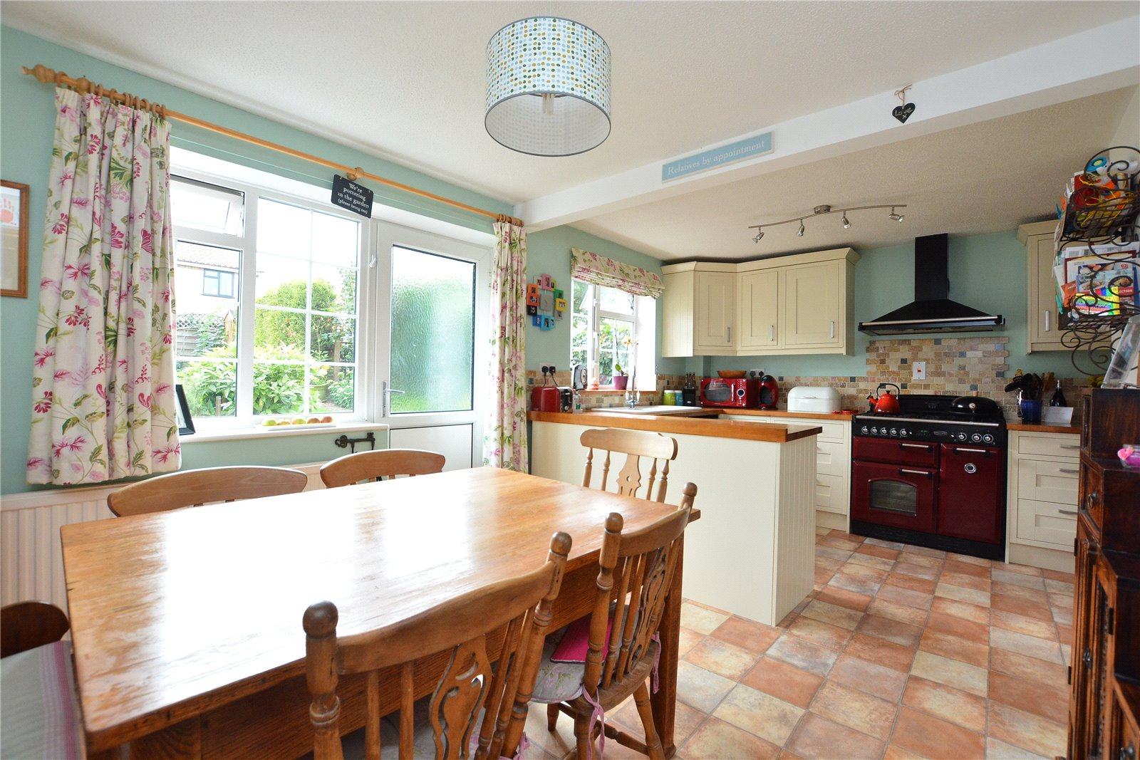 property for sale in Bramham, kitchen dining area, dining table and kitchen