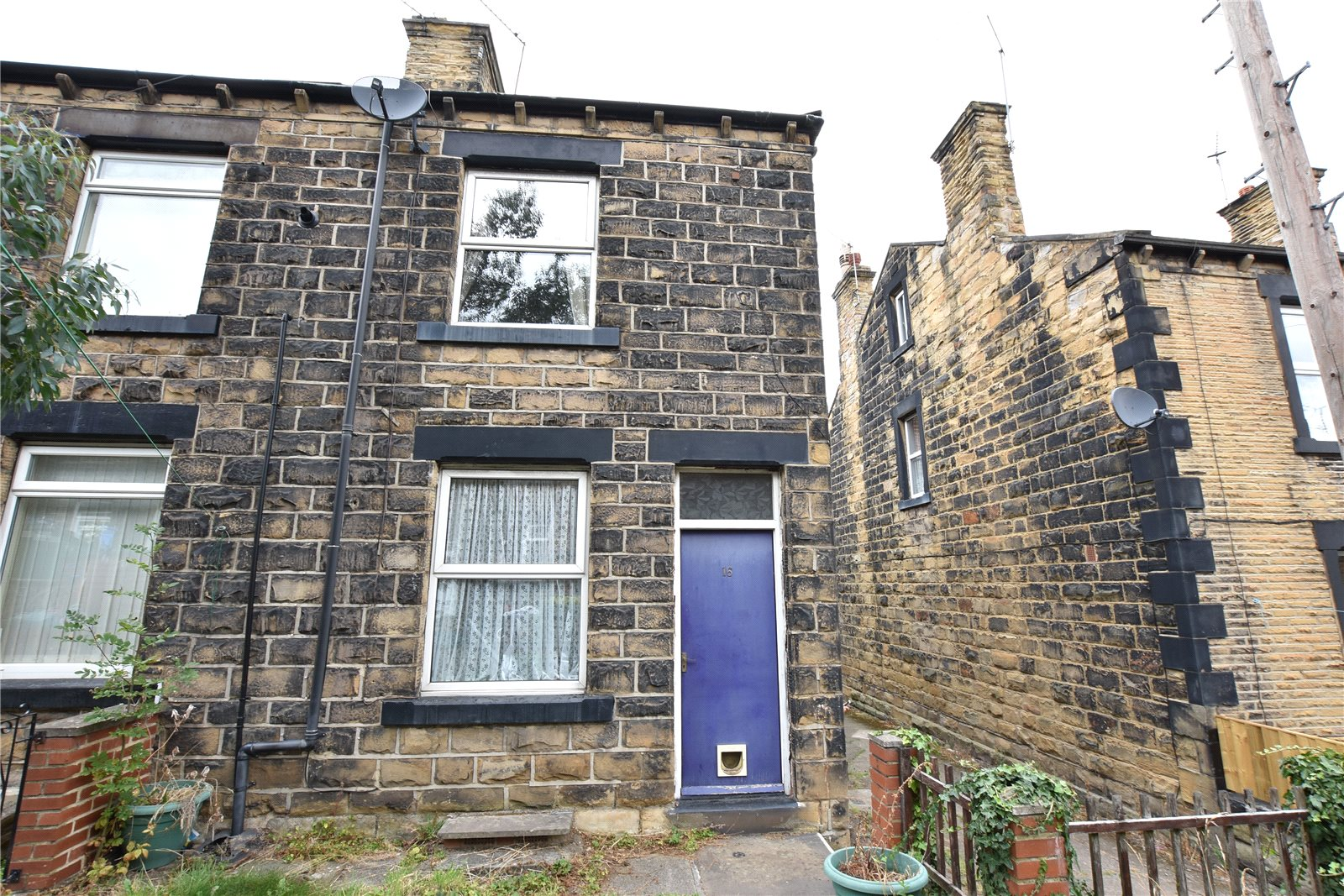 property for sale in Morley semi detached home, exterior frontage, blue front door