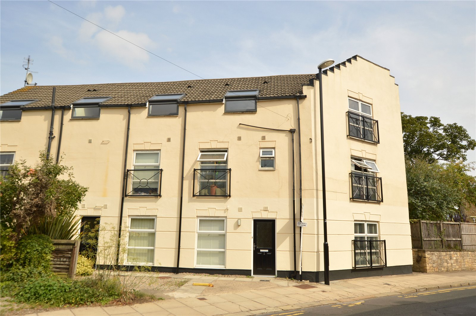 property for sale in Wetherby, exterior of apartment building