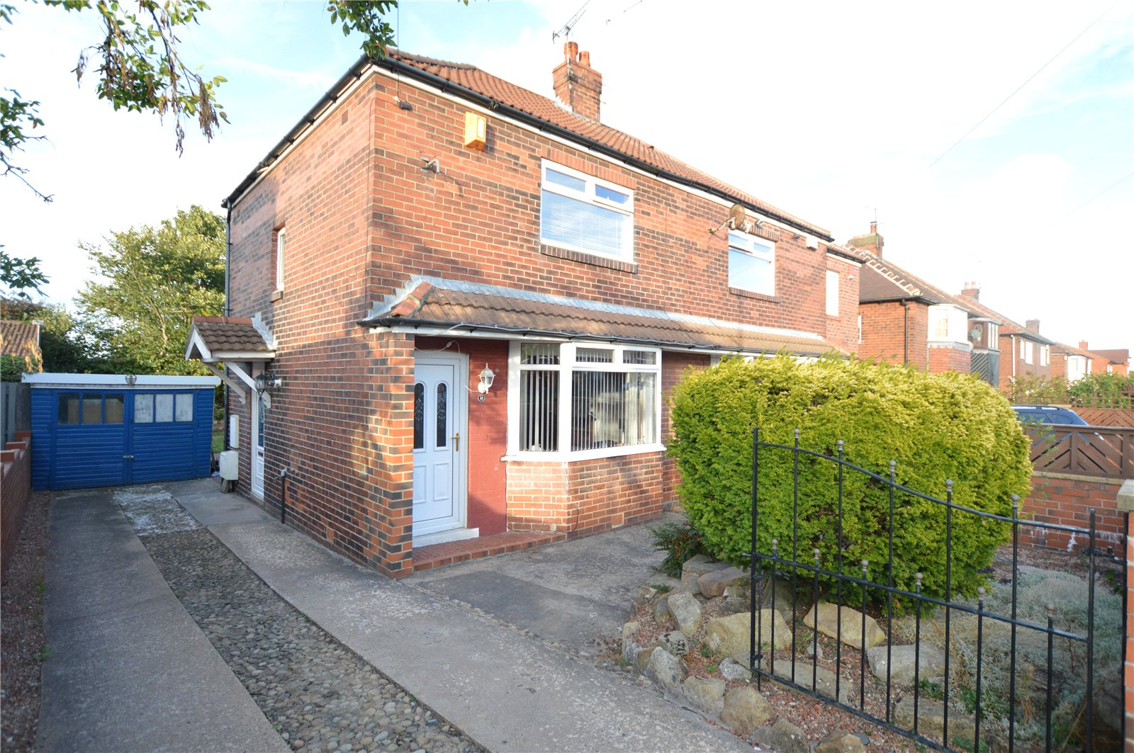 Property for sale in morley, exterior semi detached home