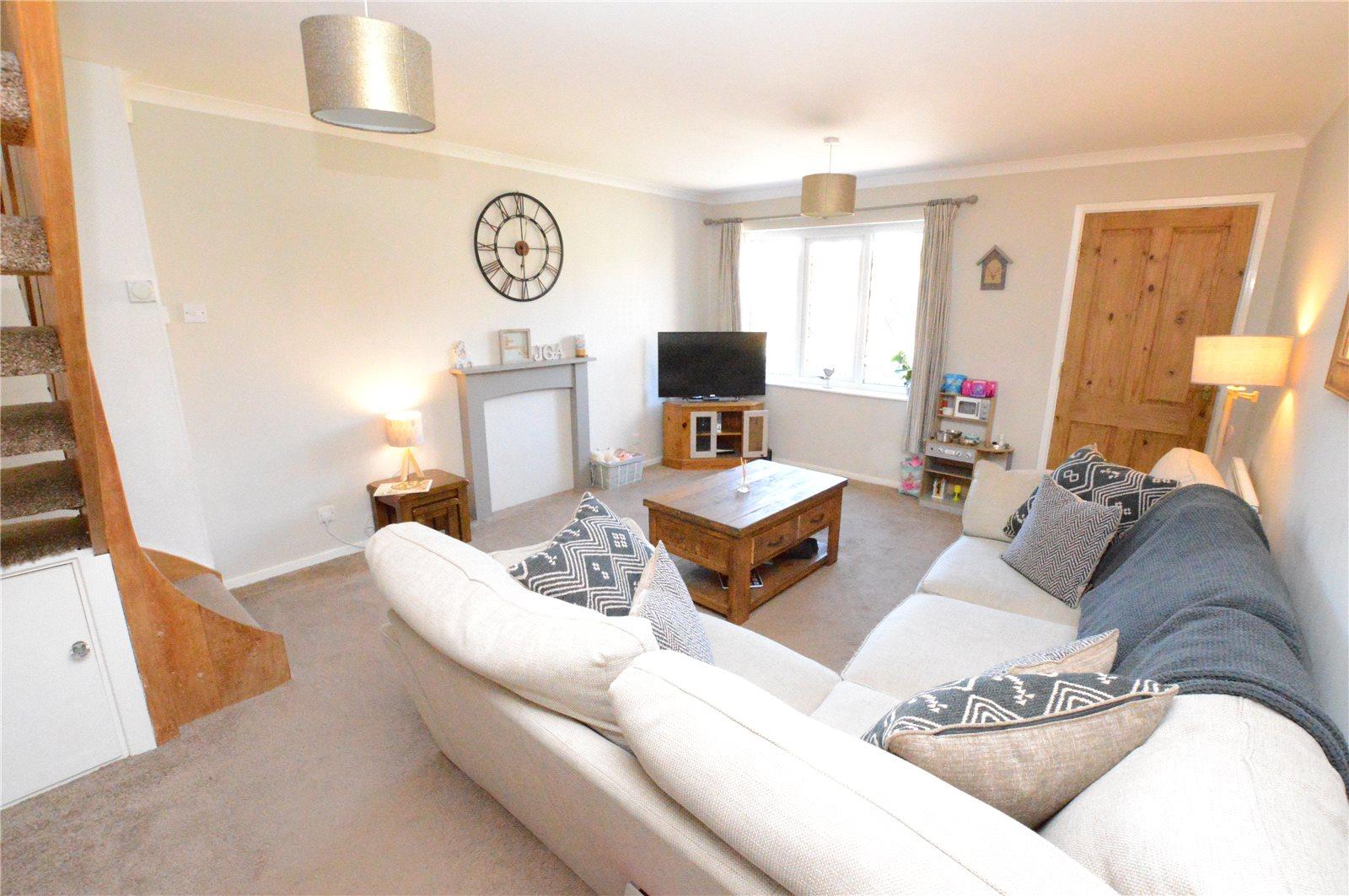 Property for sale in crossgates, reception room area corner sofa and cream decor