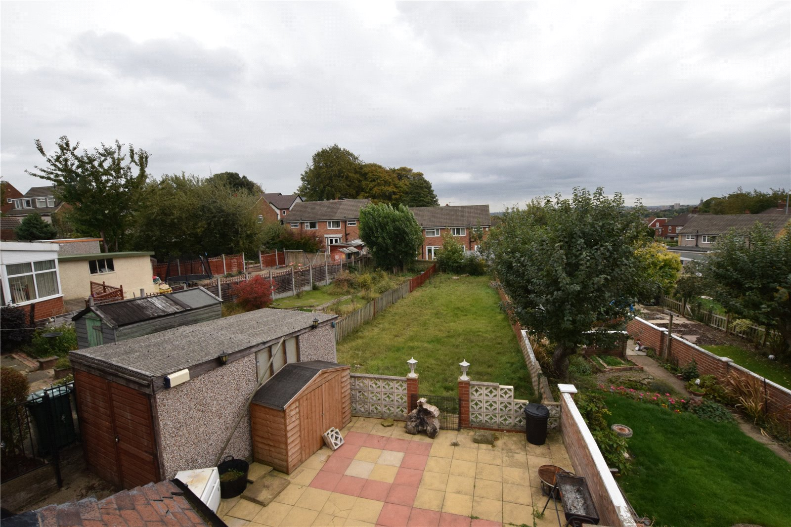 property for sale in Leeds, exterior view from rear window