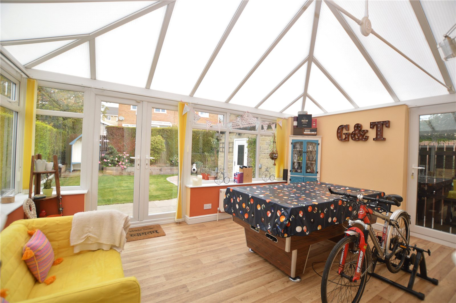 property for sale in Pudsey, interior conservatory dining area