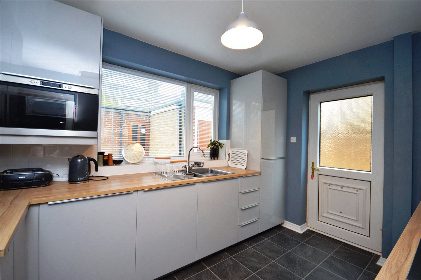 Property for sale in Wakefield, interior modern fitted kitchen