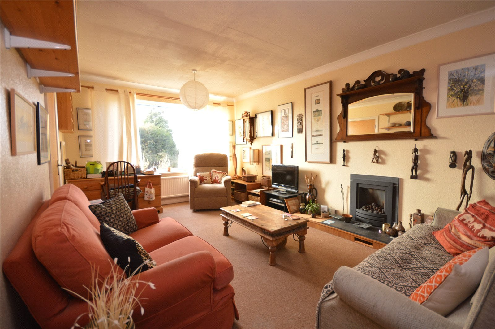 Property for sale in Wakefield, Interior spacious reception room three sofas
