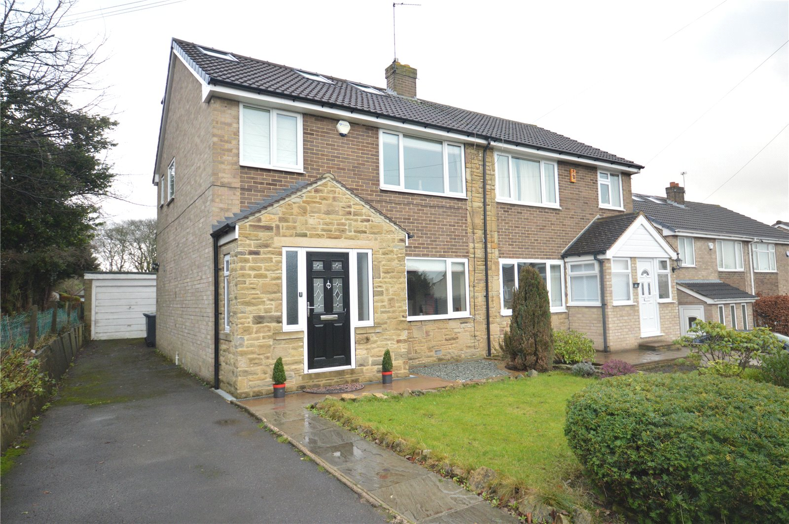 property for sale in Horsforth, exterior semi detached home
