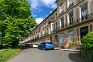 View of Buckingham Terrace, Botanics, Glasgow, G12