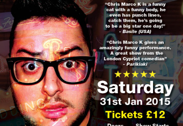 North London Stand-up Comedian, Chris Marco K, raises funds for Little Heroes