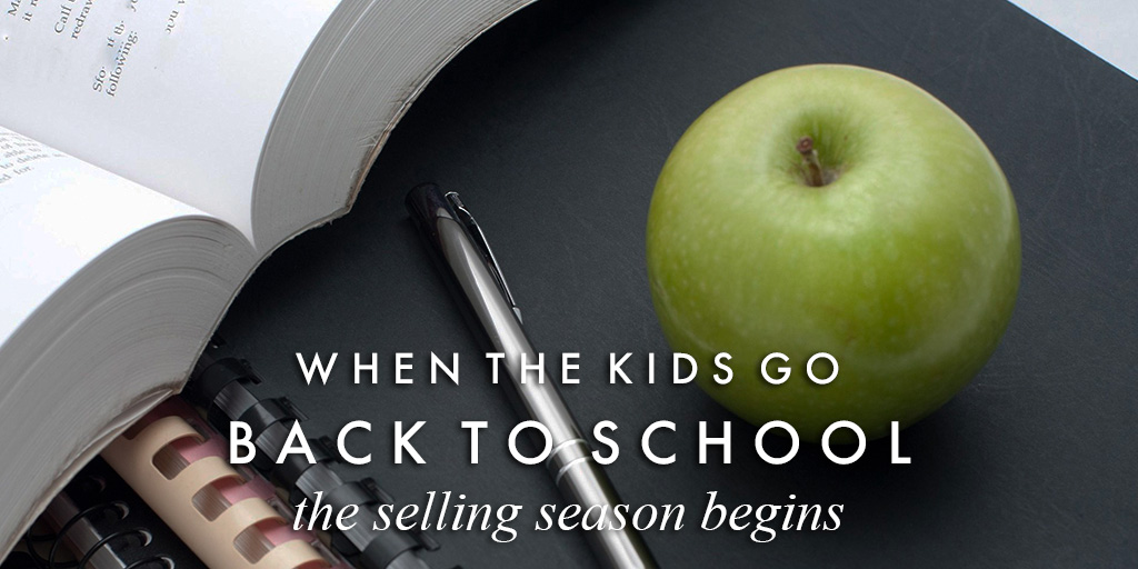 When the kids go back to school, the selling season begins